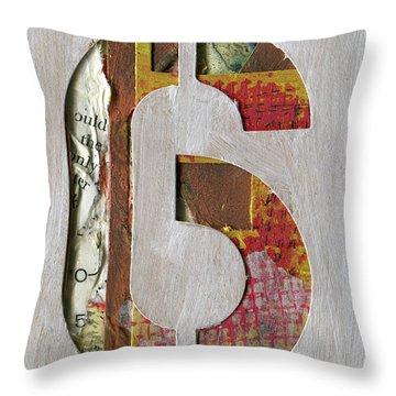 Number 6 Throw Pillow