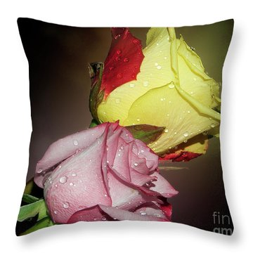 Throw Pillow featuring the photograph Roses by Elvira Ladocki