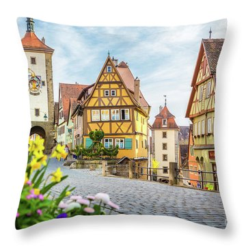 Rothenburg Ob Der Tauber Throw Pillow by JR Photography