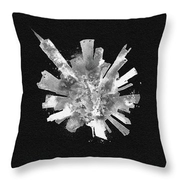 White Skyround Art Of Chicago, United States Throw Pillow