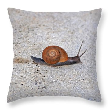 Throw Pillow featuring the photograph 6- Snail by Joseph Keane
