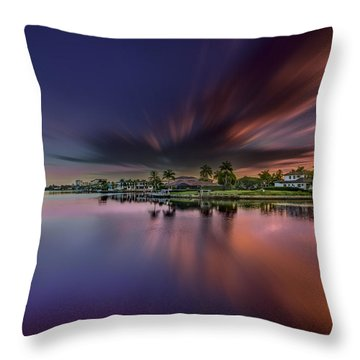 Sunrise At Naples, Florida Throw Pillow