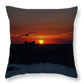 Throw Pillow featuring the photograph 6- Sunset by Joseph Keane