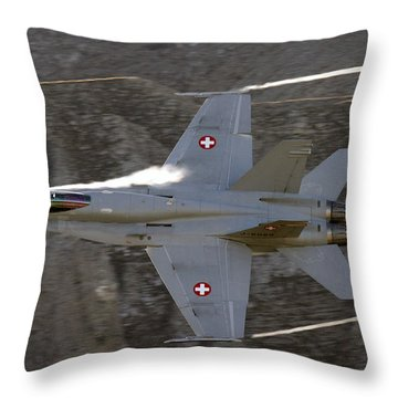 Supersonic Throw Pillow by Angel  Tarantella