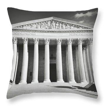 Supreme Court Building Throw Pillow