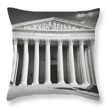 Supreme Court Building Throw Pillow