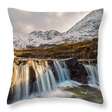 The Fairy Pools, Isle Of Skye Throw Pillow