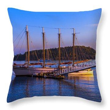 The Schooner Margaret Todd Throw Pillow