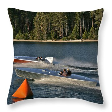 Vintage Racers Throw Pillow