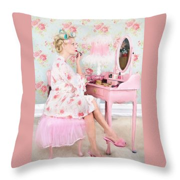 Vintage Valentine Date Throw Pillow