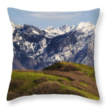 Wasatch Mountains Throw Pillow