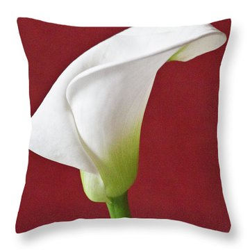 White Calla Throw Pillow