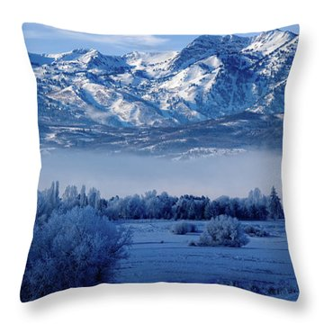 Winter In The Wasatch Mountains Of Northern Utah Throw Pillow