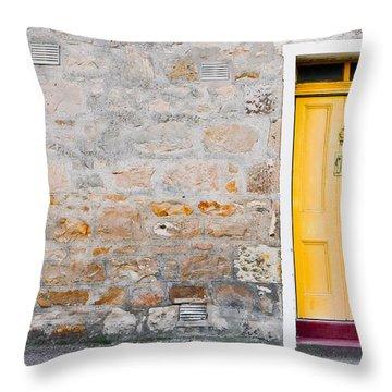 Yellow Door Throw Pillow