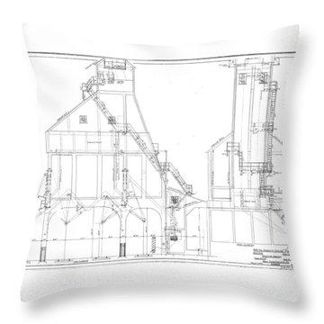 600 Ton Coaling Tower Plans Throw Pillow