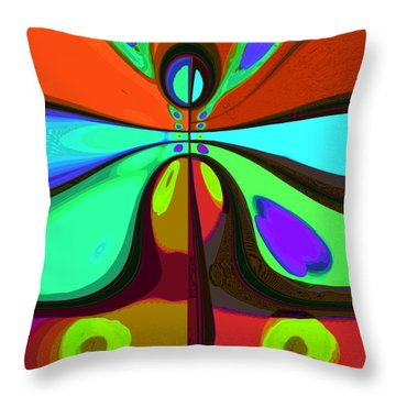 60s Free Love Throw Pillow