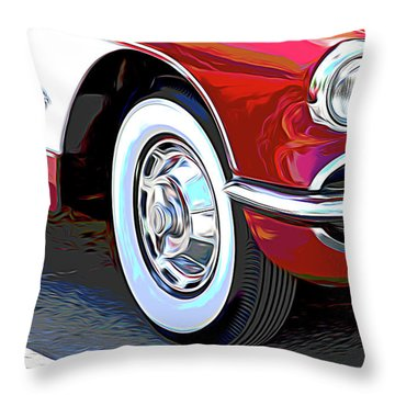 61 Corvette Throw Pillow