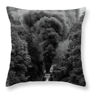 611 At Fiery Road Overpass Throw Pillow