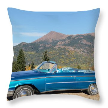 63 Ford Convertible Throw Pillow