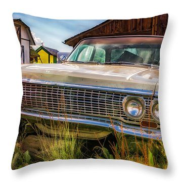 Throw Pillow featuring the photograph 63 Impala by Bitter Buffalo Photography