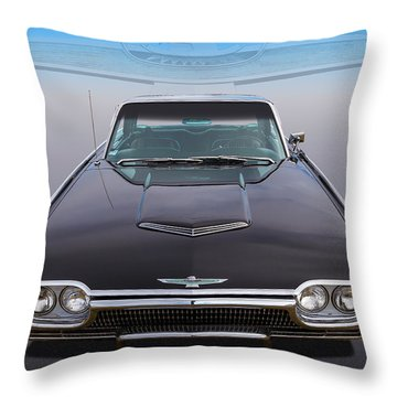 Throw Pillow featuring the photograph 63 Tbird by Keith Hawley