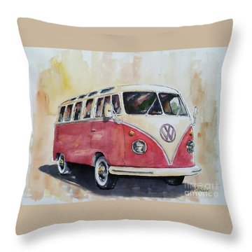 '63 V.w. Bus Throw Pillow