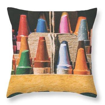 64 Colors Throw Pillow