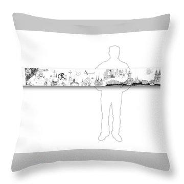 6.51.hungary-6-horizontal-with-figure Throw Pillow