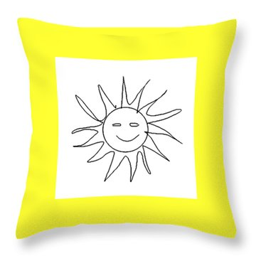 6.57.hungary-6-detail-sun-with-smile Throw Pillow