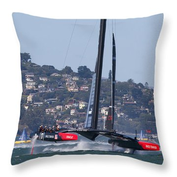 America's Cup 34 Throw Pillow