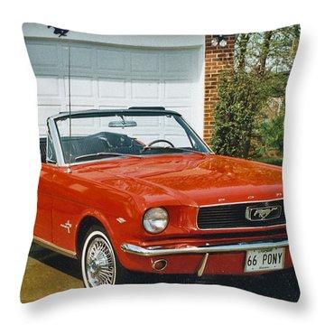 66 Mustang Convertable Throw Pillow