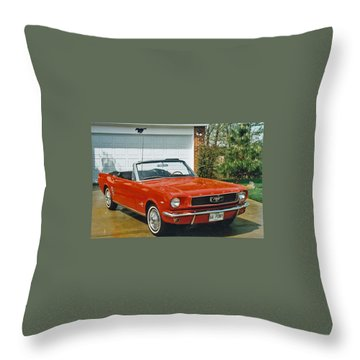 66 Mustang Convertable Throw Pillow