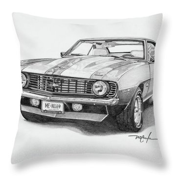 69 Camaro Throw Pillow