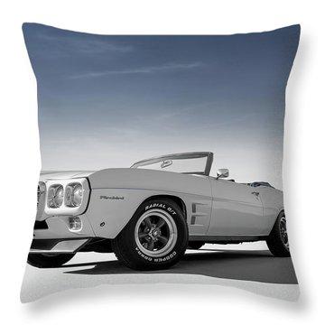 69 Firebird Convertible Throw Pillow