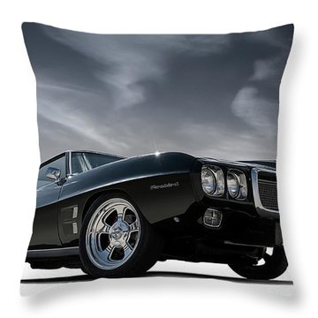 69 Pontiac Firebird Throw Pillow