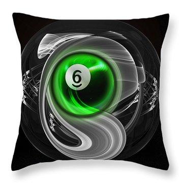 6fractuled Throw Pillow