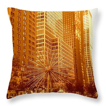 6th Avenue In Mahattan Throw Pillow