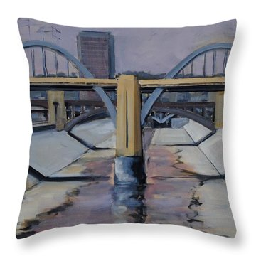 6th Street Bridge Throw Pillow