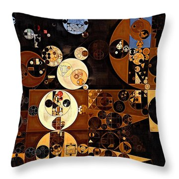 Abstract Painting - Smoky Black Throw Pillow