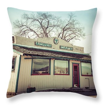 7 Acres Cafe Throw Pillow