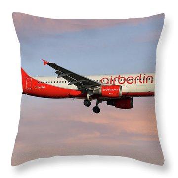 Air Berlin Throw Pillows