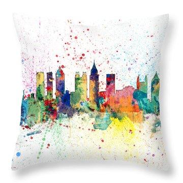 Atlanta Georgia Skyline Throw Pillow