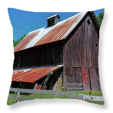 Barns In Pacific Northwest Throw Pillow