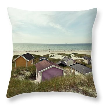 Beach Houses And Dunes Throw Pillow