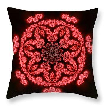 Throw Pillow featuring the digital art 7 Beats Fractal by Robert Thalmeier