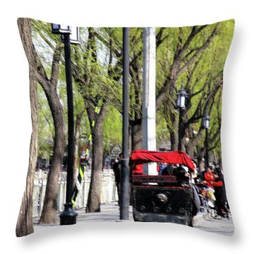 Throw Pillow featuring the photograph Beijing by Marti Green