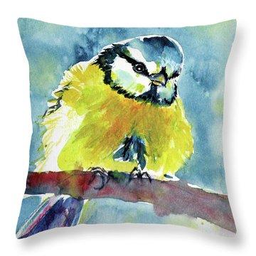 Bird Throw Pillow by Kovacs Anna Brigitta