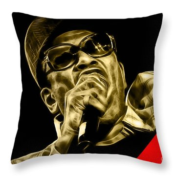 Bobby Womack Collection Throw Pillow by Marvin Blaine