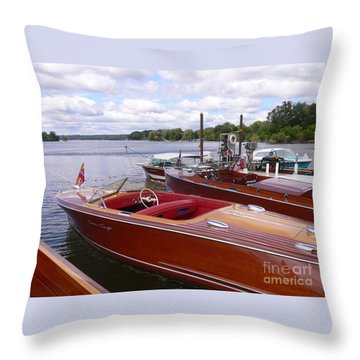 Chris Craft Custom Throw Pillow