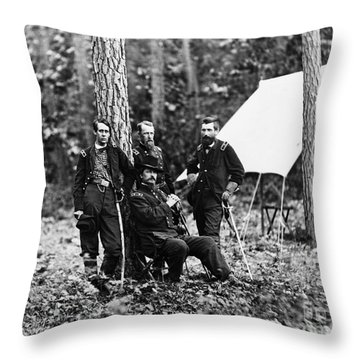 Civil War: Soldiers Throw Pillow by Granger